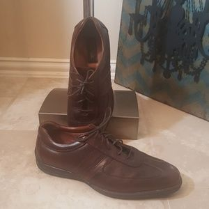 TASSO ELBA Brown Leather Shoes - Size 10